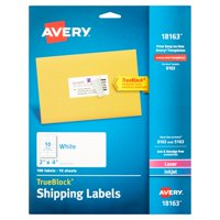 Avery Shipping Labels with TrueBlock Technology Laser/Inkjet 100pk