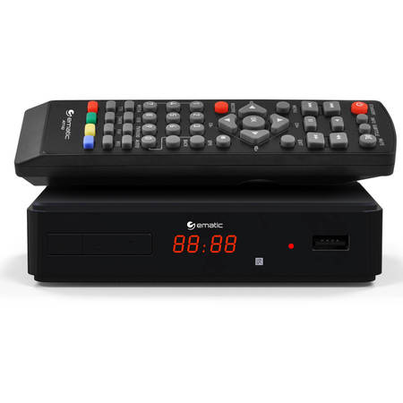 Ematic AT102 Digital TV HD Converter Box + Recorder with LED (Best Digital Freeview Recorder)