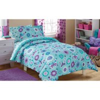 Mainstays Kids Butterfly Floral Bed in a Bag Bedding Set