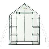 Ogrow Deluxe Mini Walk-In 3-Tier 6-Shelf Portable Greenhouse
