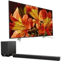 Sony 75-Inch 4K Ultra HD Smart LED TV 2018 Model (XBR75X850F) with Sony 7.1.2ch 800W Dolby Atmos Sound Bar
