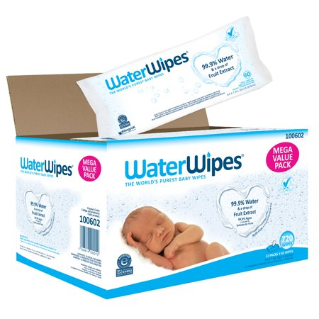 WaterWipes Sensitive Baby Wipes, Unscented, 720 Count (12 Packs of