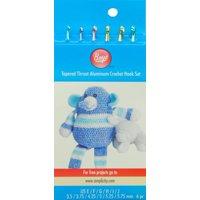 Boye Aluminum Crochet Hook Set, Sizes E4 To J10