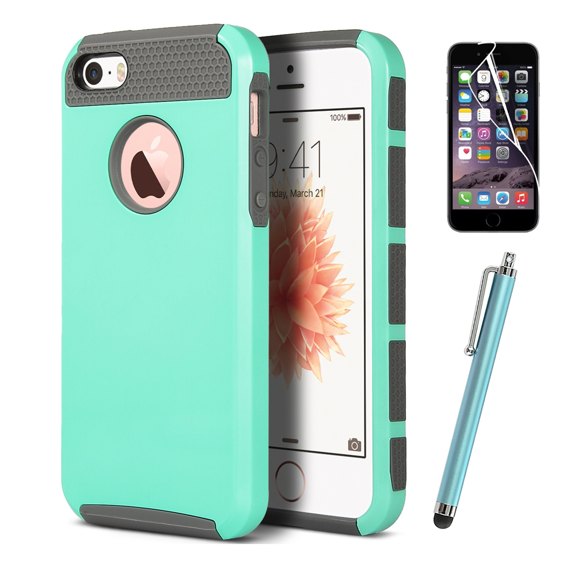 iphone 5 casesulak iphone 5 5s se case with hybrid hard dual layer slim fit protection case cover