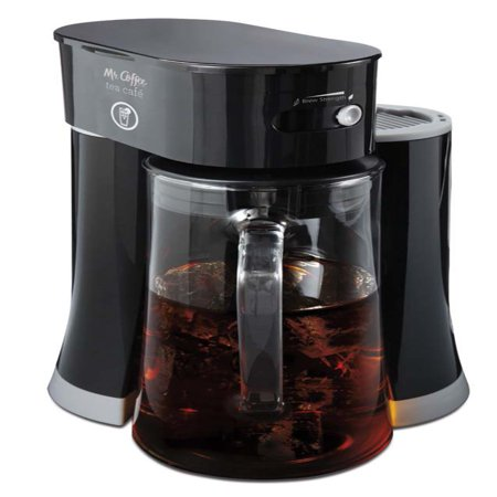 Mr. Coffee Tea Cafe 2-in-1 Black Iced Tea Maker with Glass Pitcher - (Shut Off Iced Tea Maker)