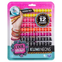 Cool Maker - KumiNeons Fashion Pack, Makes Up to 12 Bracelets with the KumiKreator, for Ages 8 and Up