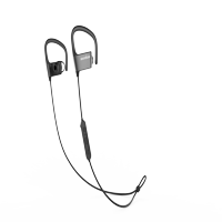 Anker SoundBuds Arc Ear-Hook Wireless Headphones with 10-Hour Bluetooth Playtime and Adjustable Memory Metal Black+gray