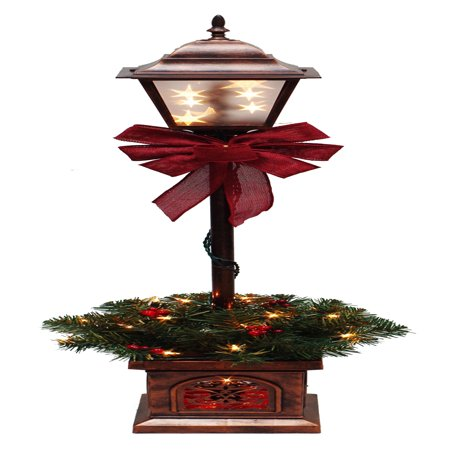 Holiday Time Pre-Lit 4' Christmas Lamp Post Tree, Clear Lights (Holiday Lamp Post)
