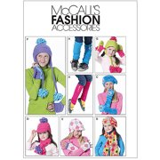 McCall's Pattern Children's and Girls' Hats, Scarves, Fingerless Gloves, Mittens, All Sizes