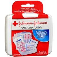 JOHNSON & JOHNSON First Aid To Go Kit 12 Items 1 Each