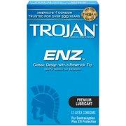 Trojan ENZ Lubricated Condoms, 12ct