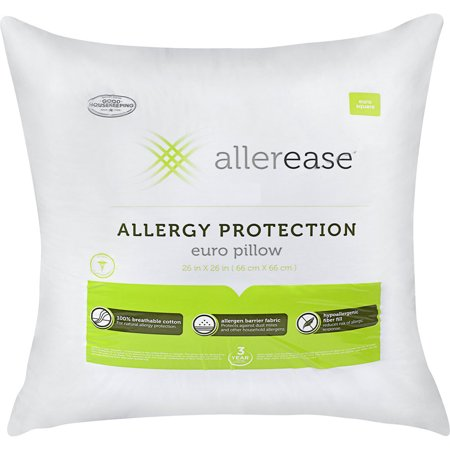 AllerEase Cotton Euro Pillow with Allergy Protection