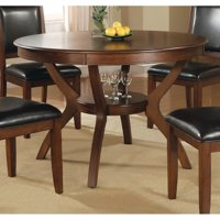 """Coaster Company 48"""" Round Nelms Dining Table, Deep Brown"""
