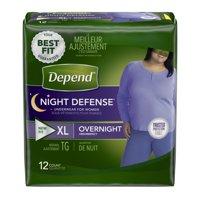 Depend Night Defense Incontinence Overnight Underwear for Women, XL, 12 Ct