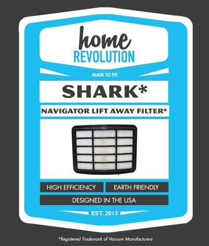 Shark NV350 XHF350 Navigator Lift-Away Compatible HEPA Filter Fits NV351, NV352, NV355, NV356, NV356E, NV357; Home Revolution Br