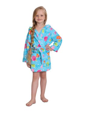 Product Image Girls Cotton Hooded Terry Robe Cover Up c3e379675