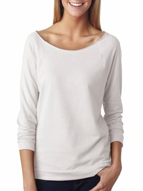 Women's Terry Raw-Edge 3/4-Sleeve Sweatshirt