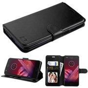Motorola Moto Z3 / Moto Z3 Play - Premium PU Leather Flip Wallet Case Cover Stand