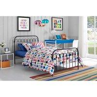 Novogratz Bright Pop Metal Bed, Multiple Sizes, Multiple Colors