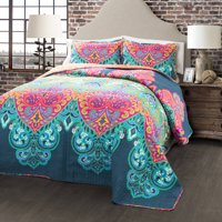Boho Chic 3-Piece Bedding Quilt Set