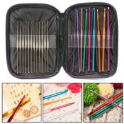 31Pcs/Set Crochet Hooks Knitting Knit kit with Gauge Steel Hooks Yarn Needle Pin