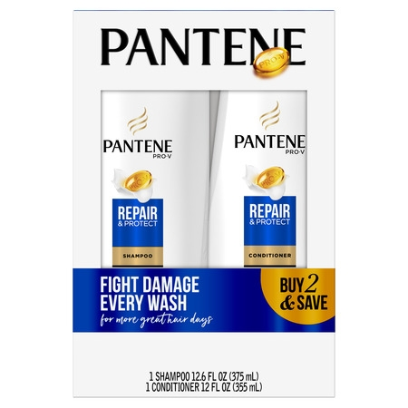 Pantene Pro-V Repair & Protect Shampoo and Conditioner Bundle (Shampoo Conditioner Lotion)