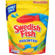 (2 Pack) Swedish Fish, Assorted Fat Free Soft & Chewy Candy Bulk Oz, 1.9 Lb