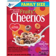 (2 Pack) Fruity Cheerios, Breakfast Cereal, Family Size, 19.6 oz Box