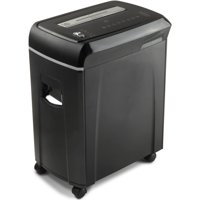 Aurora High-Security 10-Sheet Micro-Cut Paper, CD and Credit Card Shredder with Pullout Basket, Black/Gray