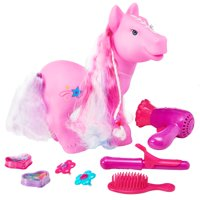 Kid connection 23-piece pony hair salon set, designed for kids age 3 and up