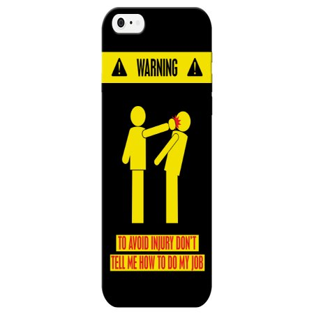 iCandy Products Black & Yellow Dont Tell Me How to Do my Job Phone Case for the Iphone 5 / 5s Back Cover - Job Case