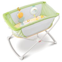 Fisher-Price Rock 'n Play Portable Bassinet, Green