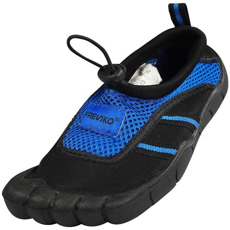 Norty - Young Mens Water Shoe - Mens beach water shoe for sand, water parks and river beds. 5 toe Aqua Wave Style. Young Mens style fits boys and teens ages 11-16 - Runs 1 Size