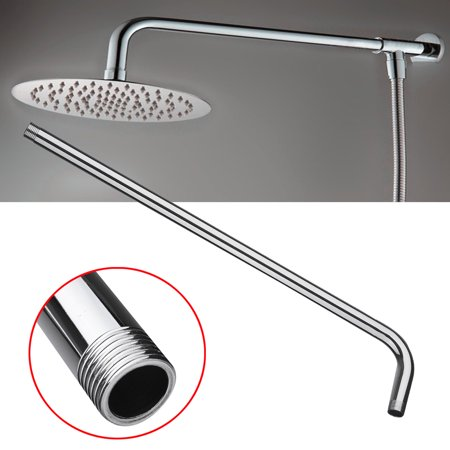 "24"" (60cm) Stainless Steel Wall Mounted Tube Shower Head Arm Rainfall Bracket"