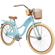 """Huffy 26"""" Womens Nel Lusso Cruiser Bike with Perfect Fit Frame, Blue"""