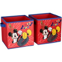 Disney Mickey Mouse Clubhouse Collapsible Storage Cubes 2 pc Pack