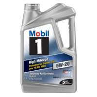 Mobil 1 5W-20 High Mileage Advanced Full Synthetic Motor Oil, 5 qt.