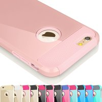 iPhone 6S Case, iPhone 6 Case, Njjex [Rose Gold] Hybrid Shock Absorbing Impact Defender Slim Hard Case Cover Plastic Shell Outer +TPU Rubber Silicone Inner For Apple iPhone 6S/6 (4.7 inch)