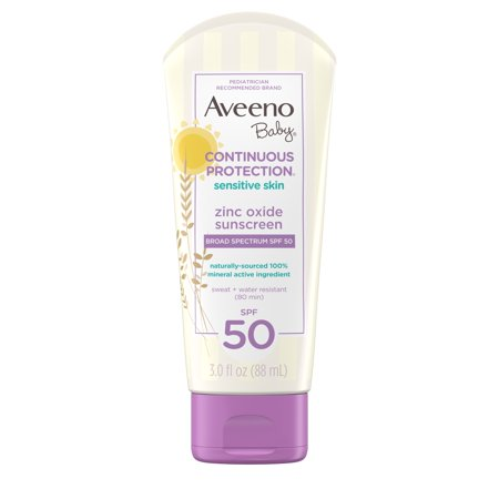 Aveeno Baby Continuous Protection Zinc Oxide Mineral Sunscreen, SPF (Missha All Around Safe Block Waterproof Sun)