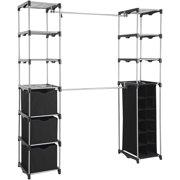 Mainstays™ Closet Organizer, 2-Tower 9-Shelves, Easy to Assemble, Black