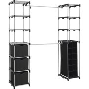Mainstays™ Closet Organizer, 2-Tower 9-Shelves, Easy to Assemble, Black