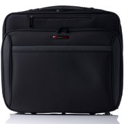 """e72193f7e1 Alpine Swiss Rolling Briefcase Wheeled Overnight Carry on Bag up to 15.6""""  Laptop Black One"""