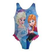 316c47b490865 Disney Baby Girls Blue Frozen Elsa Anna One Piece UPF 50+ Swimsuit