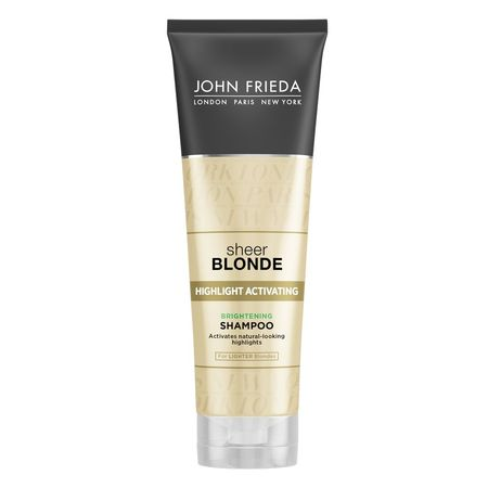 John Frieda Sheer Blonde Highlight Activating Brightening Shampoo, Lighter Blondes, 8.45