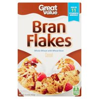 (2 Pack) Great Value Bran Flakes Cereal, 15.6 oz