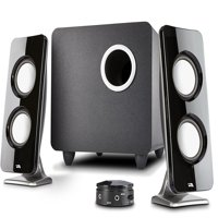 Cyber Acoustics 2.1 Speaker Sound System with Subwoofer and Control Pod - Great for Music, Movies, Multimedia PCs, Macs, Laptops and Gaming Systems (CA-3610)