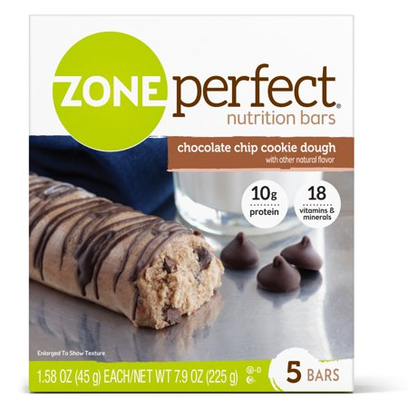 (2 Pack) ZonePerfect Nutrition Bar, Chocolate Chip Cookie Dough, 10g Protein, 5 Ct](Halloween Cookie Dough)