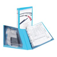 """Avery 1"""" Mini Protect & Store View Binder, 8-1/2"""" x 5-1/2"""", Blue"""