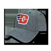 b784a42aa5f85f NCAA Dayton University Flyers Curved Bill Cotton Structured Denim Caps Hats  Blue