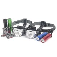 Ozark Trail® Outdoor Equipment LED Flashlights & Headlamps Combo with Batteries Variety Pack 6 pc Carded Pack